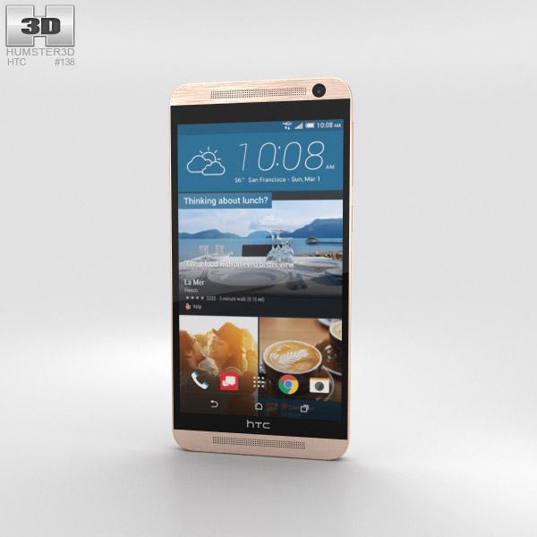 HTC One E9+ Classic Rose Gold 3D model