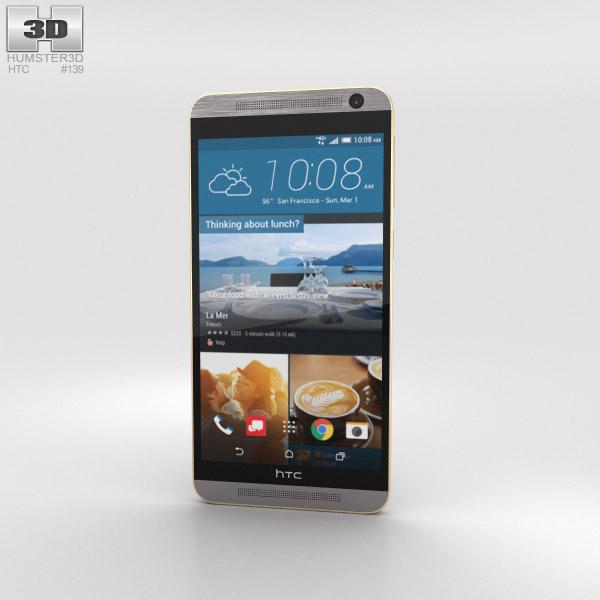 HTC One E9+ Gold Sepia 3D model