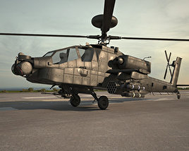 3D model of Boeing AH-64 D Apache