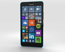 3D model of Microsoft Lumia 640 XL Matte Cyan
