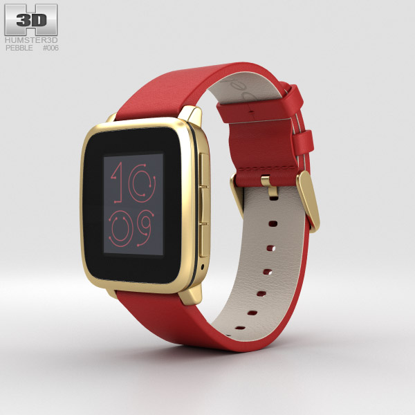 3D model of Pebble Time Steel Gold