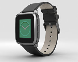 3D model of Pebble Time Steel Gunmetal Black