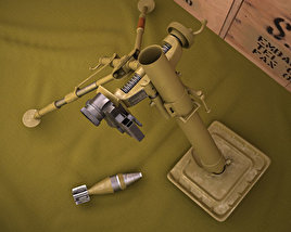 3D model of M2 Mortar