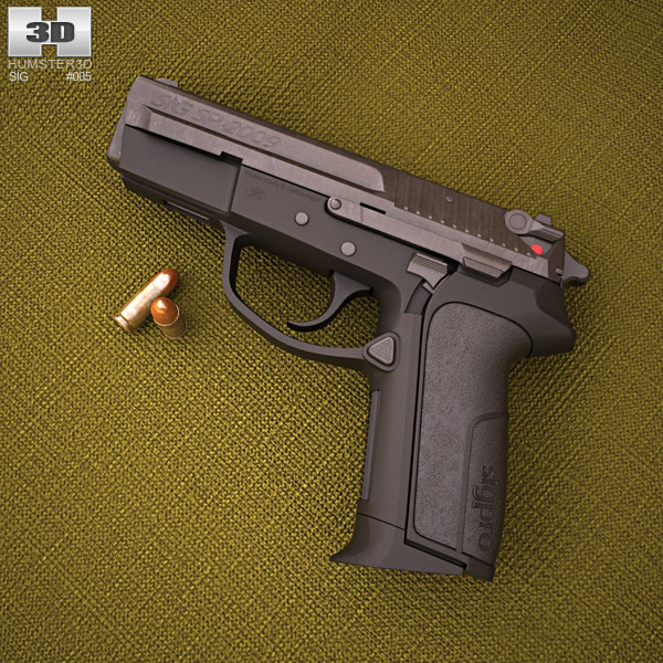 3D model of SIG Sauer Pro SP2009