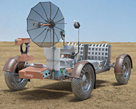 3D model of Apollo 15 Lunar Roving Vehicle