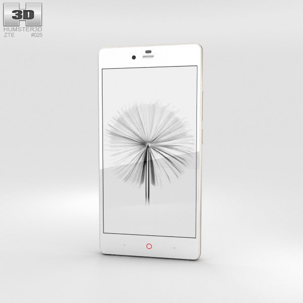 ZTE Nubia Z9 Max White 3D model