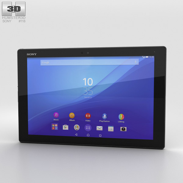Sony Xperia Z4 Tablet LTE Black 3D model