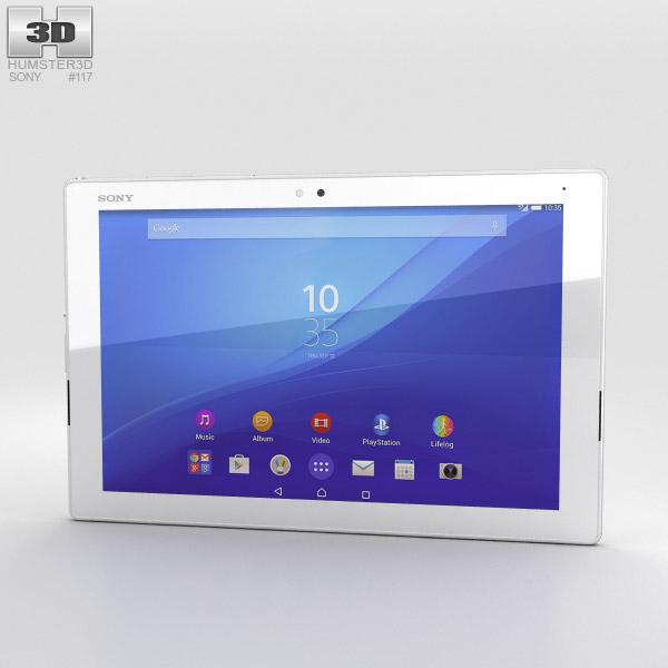 Sony Xperia Z4 Tablet LTE White 3D model