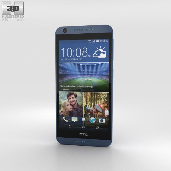 HTC Desire 626 Blue Lagoon 3D model