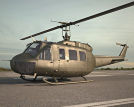 3D model of Bell UH-1 Iroquois