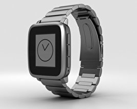 3D model of Pebble Time Steel Gunmetal Black Metal Band