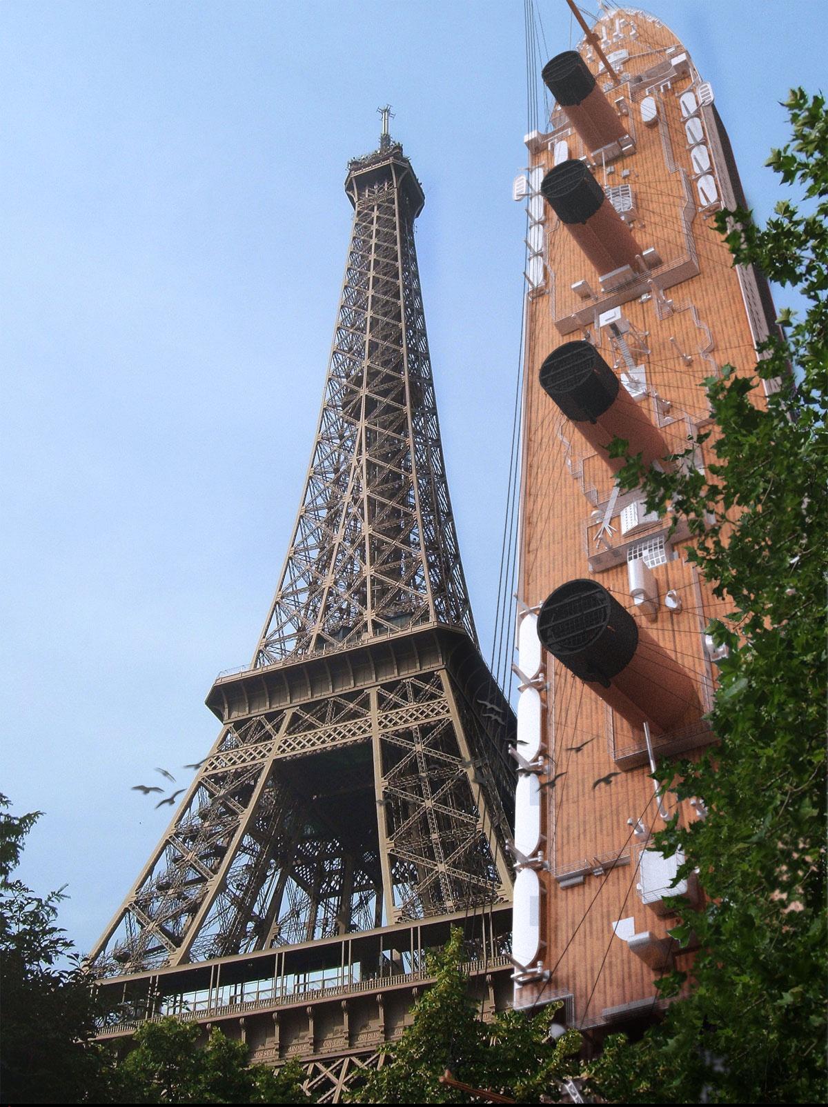 Titanic on vacation, Paris by Ben Althoff