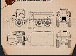 Astra ADT 30D Dump Truck 2000 Blueprint