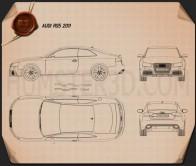 Audi RS5 2011 Blueprint