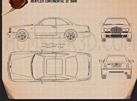 Bentley Continental SC 1998 Blueprint