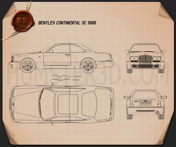Bentley Continental SC 1998 Blueprint