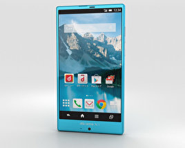 Sharp Aquos Zeta SH-01G Cyan 3D model