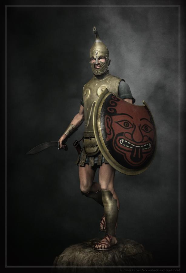 Thracian warrior 3d art