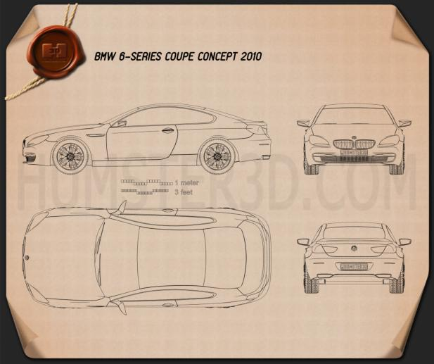 BMW 6 Series F12/F13 Coupe Blueprint