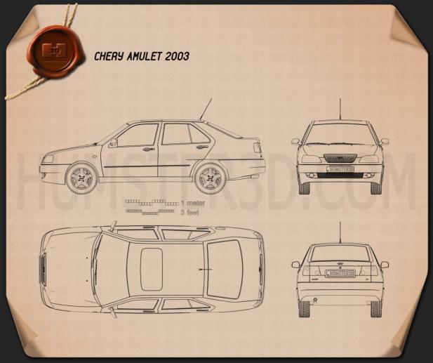 Chery A15 Cowin 2003 Blueprint
