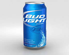 3D model of Budlight Beer Can 330 ml