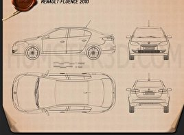 Renault Fluence 2010 Blueprint