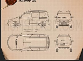 Dacia Dokker 2012 Blueprint
