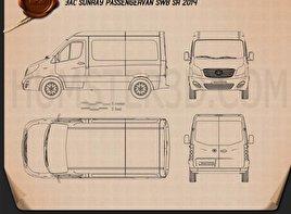 JAC Sunray Passenger Van SWB SR 2014 Blueprint