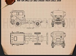 MAN TGM Chassis Truck 2008 2-axle Blueprint