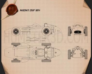 Maserati 250F 1954 Blueprint
