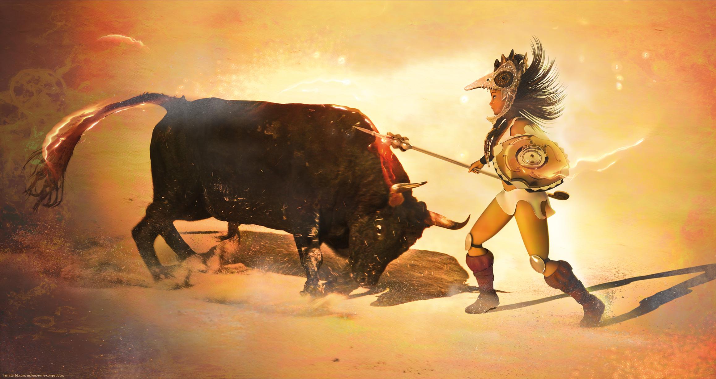 Raging Bull 3d art