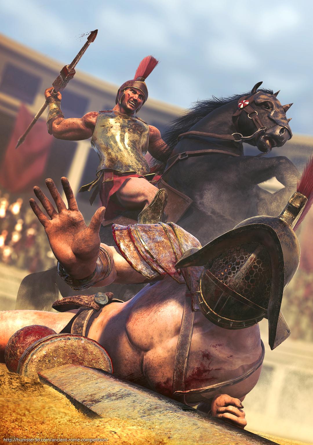 Verus vs Priscus, the road to freedom 3d art