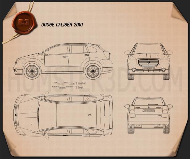 Dodge Caliber 2010 設計図