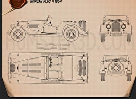 Morgan Plus 4 1954 Blueprint