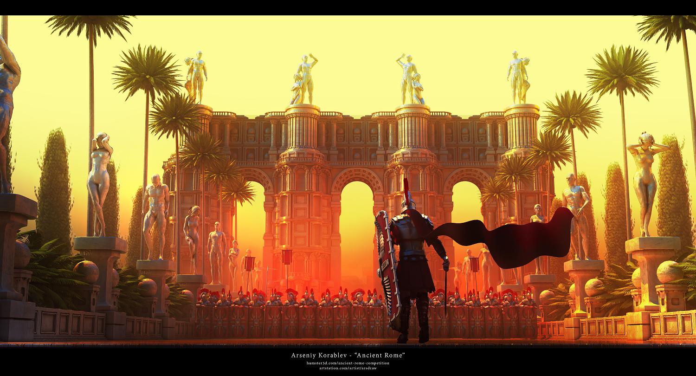 Ancient Rome 3d art