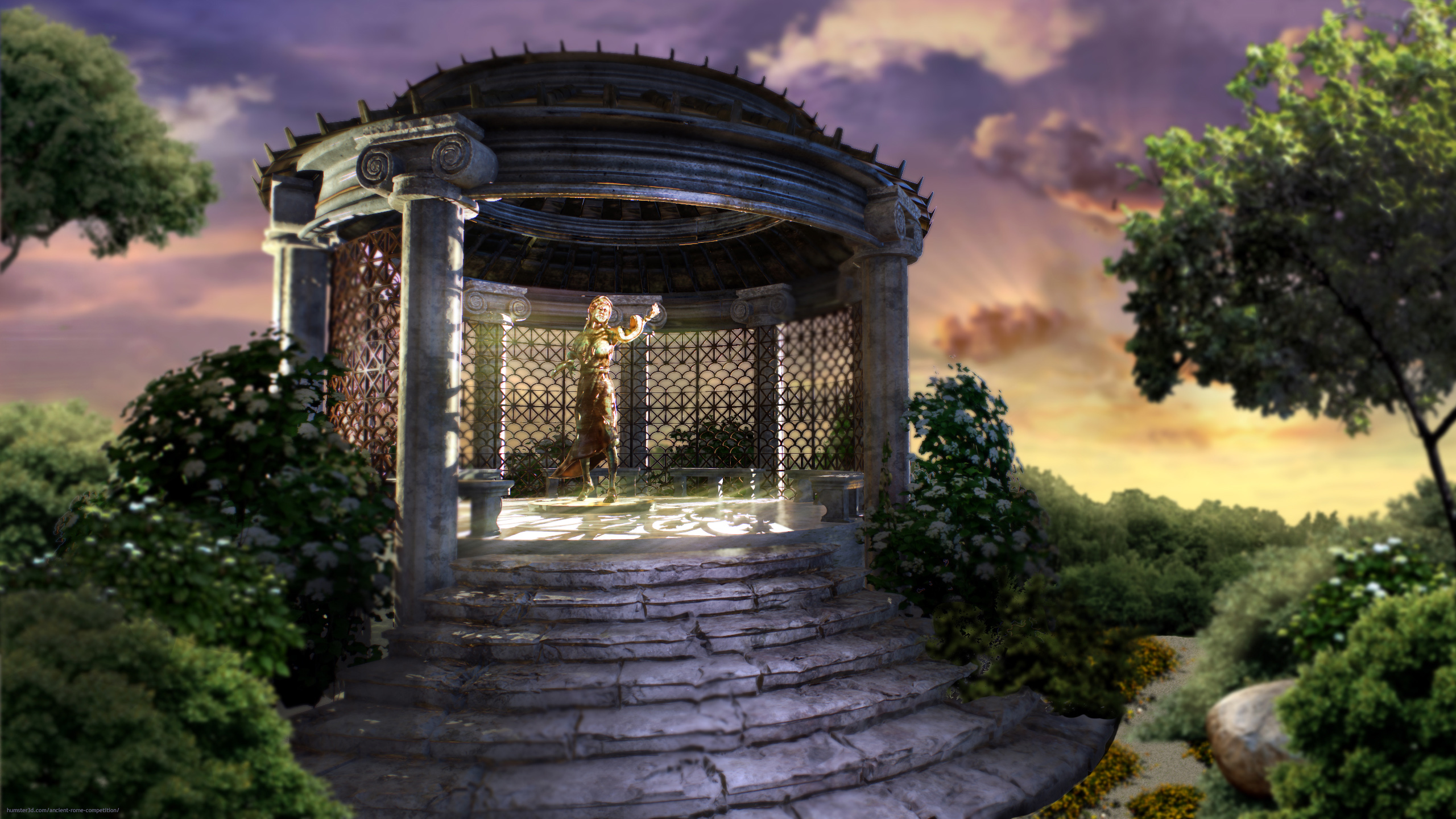 Temple of Vesta 3d art