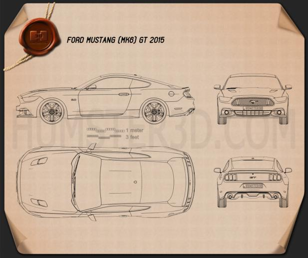 Ford Mustang GT 2015 Blueprint