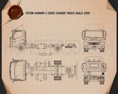 Foton Aumark C (1015) Chassis Truck 2-axle 2010 Blueprint