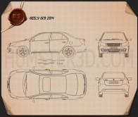 Geely GC6 2014 Blueprint