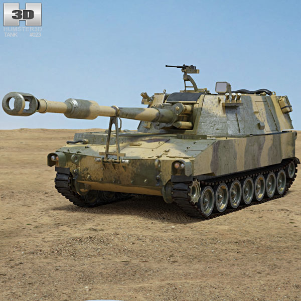 M109 Howitzer 3D model