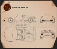 Porsche 918 spyder 2011 Blueprint
