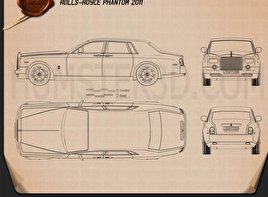 Rolls-Royce Phantom 2011 Blueprint