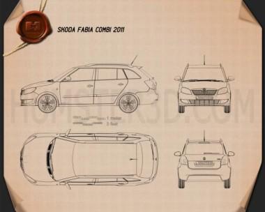 Skoda Fabia Combi 2011 Blueprint