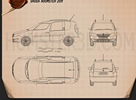 Skoda Roomster 2011 Blueprint