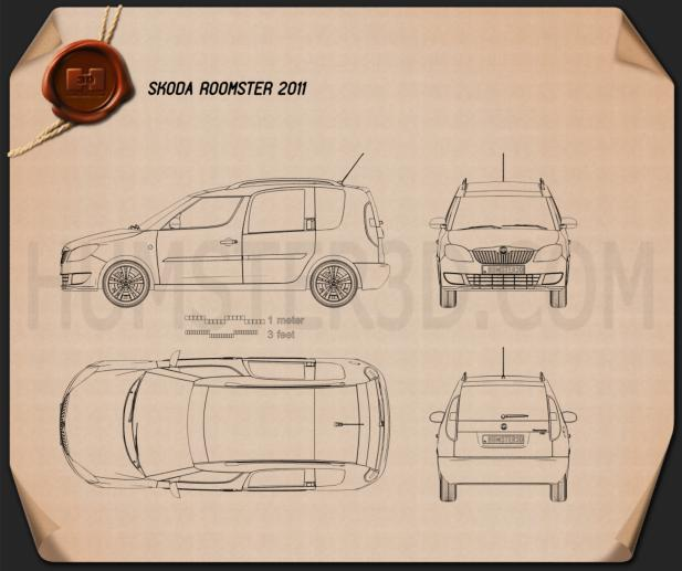 Skoda Roomster 2011 Blueprint