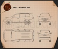 Toyota Land Cruiser 2010 Blueprint
