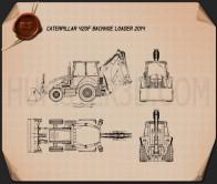 Caterpillar 420F Backhoe Loader Blueprint