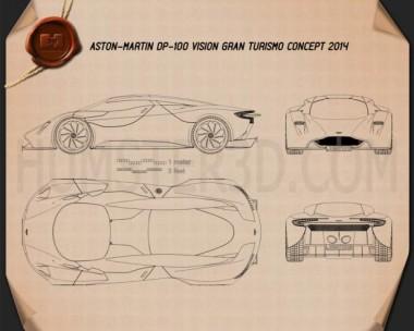 Aston Martin DP-100 Vision Gran Turismo 2014 Blueprint
