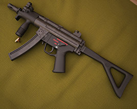 3D model of Heckler & Koch MP5K-PDW