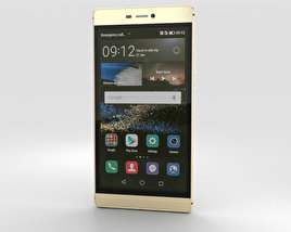 3D model of Huawei P8 Prestige Gold